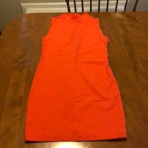 Orange body fitting dress